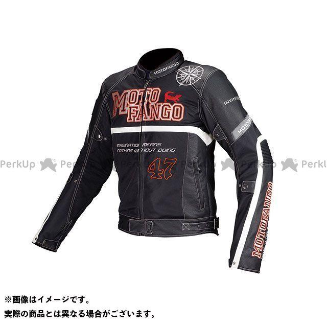 MOTOFANGO ジャケット MJ-002 プロテクトハーフメッシュジャケット(ブラック) サイズ:XL モトファンゴ