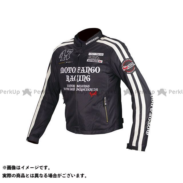 MOTOFANGO ジャケット MJ-003 ダブルラインメッシュジャケット(ブラック/シルバー) サイズ:M モトファンゴ