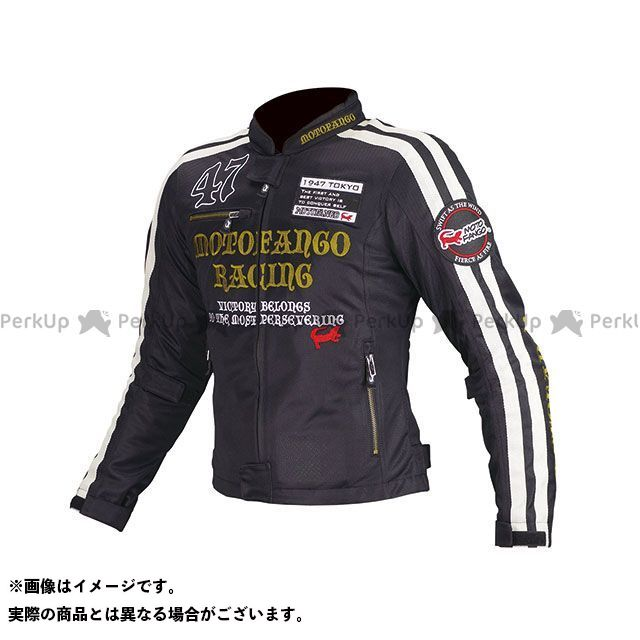 MOTOFANGO ジャケット MJ-003 ダブルラインメッシュジャケット(ブラック/ゴールド) サイズ:S モトファンゴ