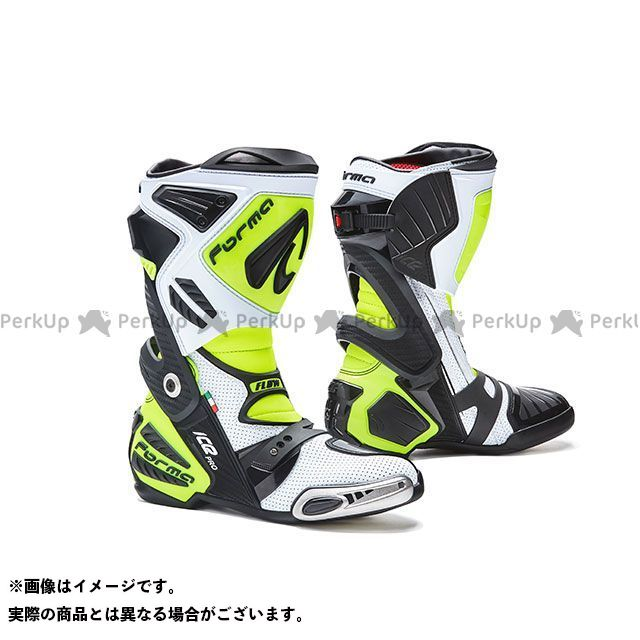 フォーマ レーシングブーツ ICE PRO FLOW(ホワイト/ブラック/イエローフロー) サイズ:40/25.5cm FORMA