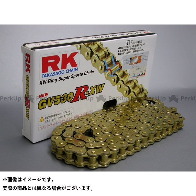 RK EXCEL 汎用 チェーン関連パーツ ストリート用チェーン GV530R-XW(ゴールド) 118L
