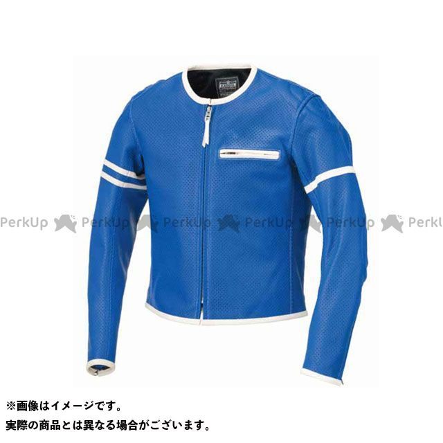 カドヤ ジャケット K'S LEATHER No.1177 PL-SP レザージャケット(ブルー/アイボリー) サイズ:LL KADOYA