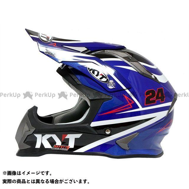 送料無料 KYT ケーワイティー オフロードヘルメット ストライクイーグル シンプソンレプリカ(ブルー) XS/53-54cm