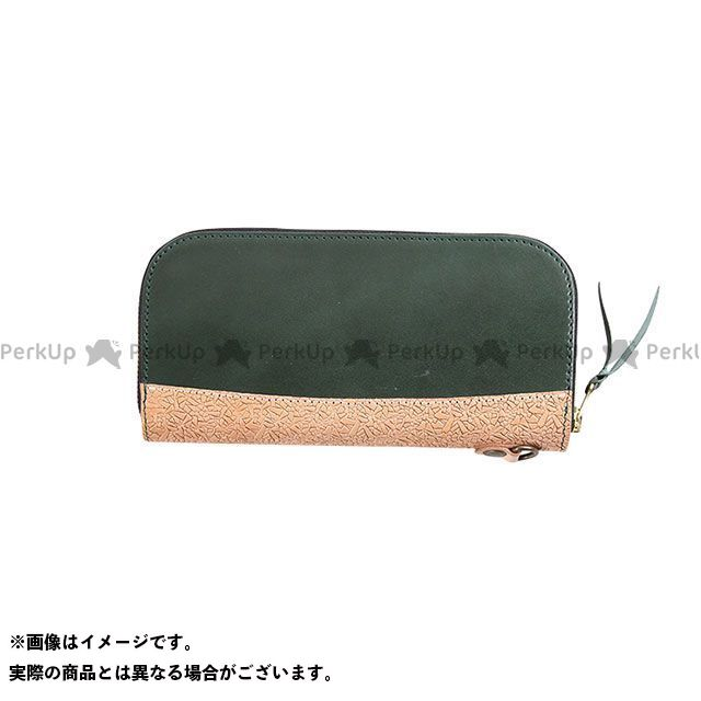 デグナー 財布 W-100 イタリアンレザー本革ロングZIPウォレット(グリーン) DEGNER