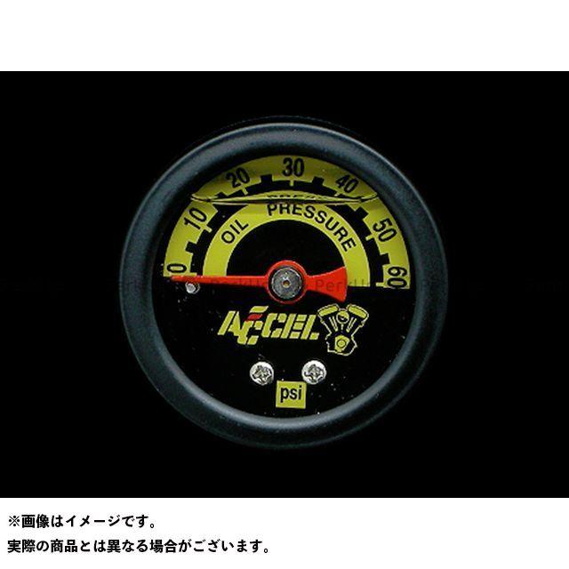 【エントリーで最大P23倍】ACCEL ハーレー汎用 水温・油温・燃料計 60PSIオイルプレッシャーゲージ カラー:黒 アクセル