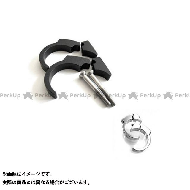 motogadget 汎用 ハンドル周辺パーツ ハンドルバークリップキット(ブラック) ハンドルバー径22.2mm