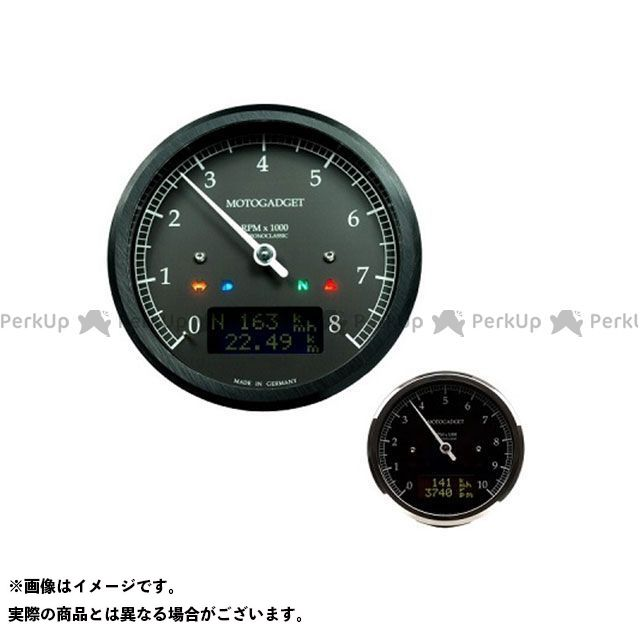 【エントリーで最大P23倍】motogadget 汎用 タコメーター クロノクラシック 10K ダークLCD ポリッシュ モトガジェット