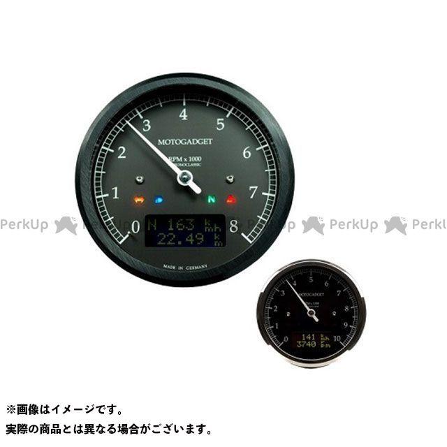 【エントリーでポイント10倍】 モトガジェット 汎用 タコメーター クロノクラシック 14K ダークLCD ポリッシュ