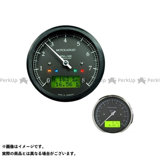 【エントリーで最大P23倍】motogadget 汎用 タコメーター クロノクラシック 10K イエローLCD ブラック モトガジェット
