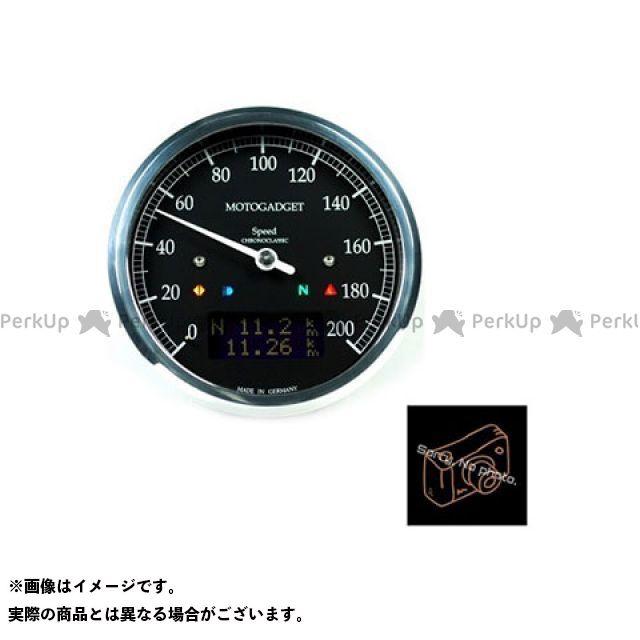 【エントリーで最大P23倍】motogadget 汎用 タコメーター クロノクラシック スピード ダークLCD ポリッシュ モトガジェット