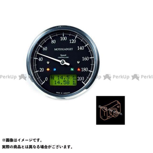 【エントリーで最大P23倍】motogadget 汎用 タコメーター クロノクラシック スピード イエローLCD ブラック モトガジェット