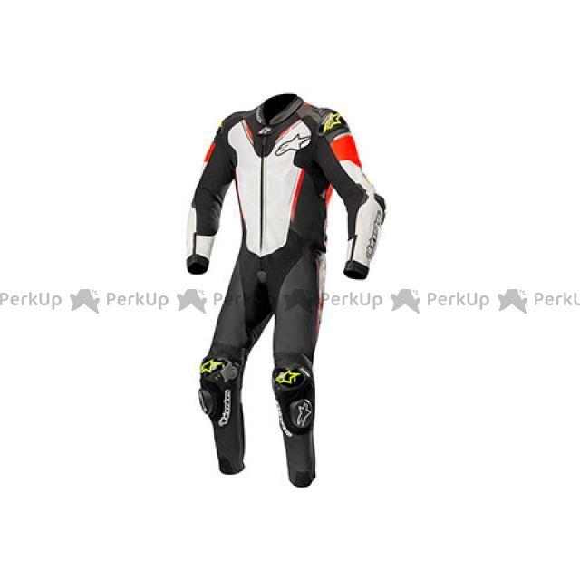 送料無料 Alpinestars アルパインスターズ レーシングスーツ アテム 3 レザー スーツ(ブラック/ホワイト/イエローフロー) 52