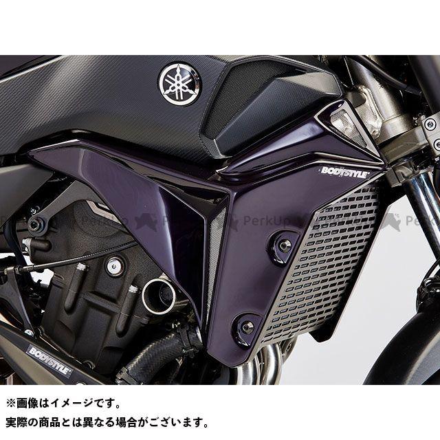 ボディースタイル MT-07 MT-07 モトケージ カウル・エアロ ラジエーターサイドカバー YAMAHA MT-07 2016-2017 / Motocage 2015-2017 グレー/イエロー BODY STYLE