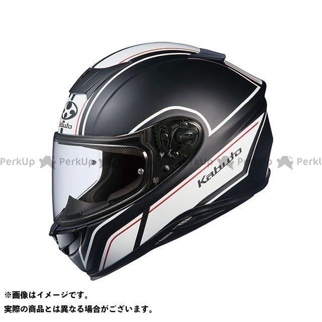送料無料 OGK KABUTO オージーケーカブト フルフェイスヘルメット AEROBLADE-5 SMART(エアロブレード・ファイブ スマート) フラットブラック/ホワイト XXL/62cm以上