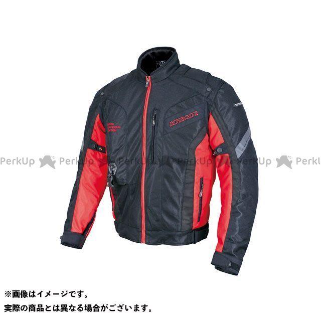 ヒットエアー ジャケット MX-8 エアバッグメッシュジャケット(ブラック/レッド) サイズ:2XL hit air