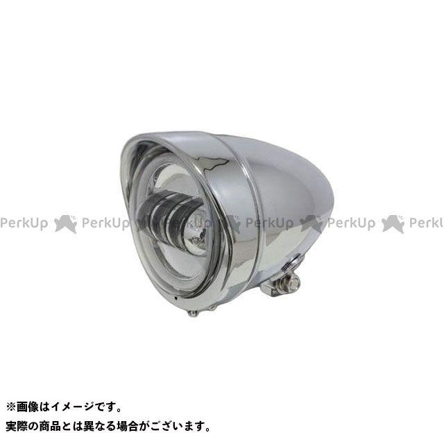 ガレージティーアンドエフ 汎用 ヘッドライト・バルブ 4.5インチロケットライト(メッキ) プロジェクターLED仕様(リング付き) ガレージT&F