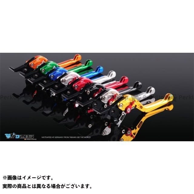 Dimotiv KLR650 レバー TYPE3 アジャストレバー ブレーキレバー 本体カラー:チタンシルバー エクステンションカラー:オレンジ ディモーティブ