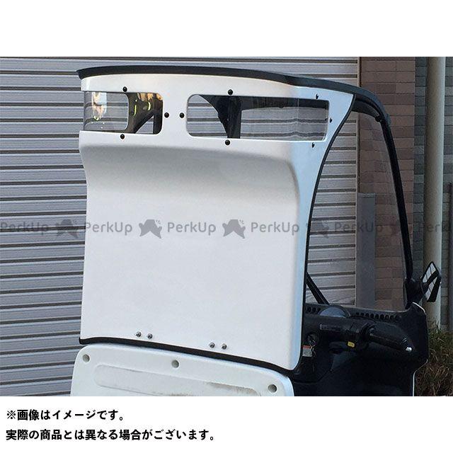 Hunter ジャイロキャノピー ドレスアップ・カバー ジャイロキャノピー用 ハイバックガードパネル クリアウインド付き 白ゲルコート デッキタイプ用 ハンター