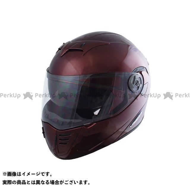 SPEEDPIT システムヘルメット(フリップアップ) 【限定品】PT-2 ダブルシールドシステムヘルメット phantomtop(マルーン) サイズ:L(58-60cm未満) スピードピット