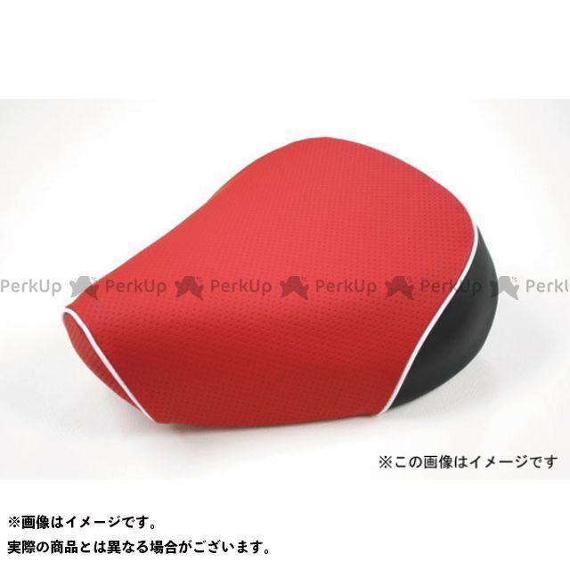 Grondement PCX125 シート関連パーツ PCX125 国産シートカバー エンボスレッド タイプ:張替 仕様:白パイピング 型式:初期/EPSエンジン グロンドマン