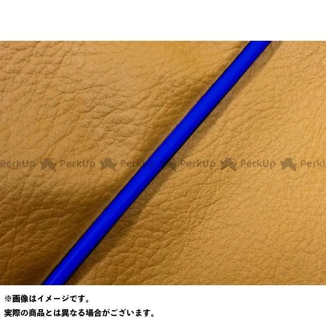 Grondement PCX125 シート関連パーツ PCX125 国産シートカバー 黄土色 タイプ:被せ 仕様:青パイピング 型式:初期/EPSエンジン グロンドマン