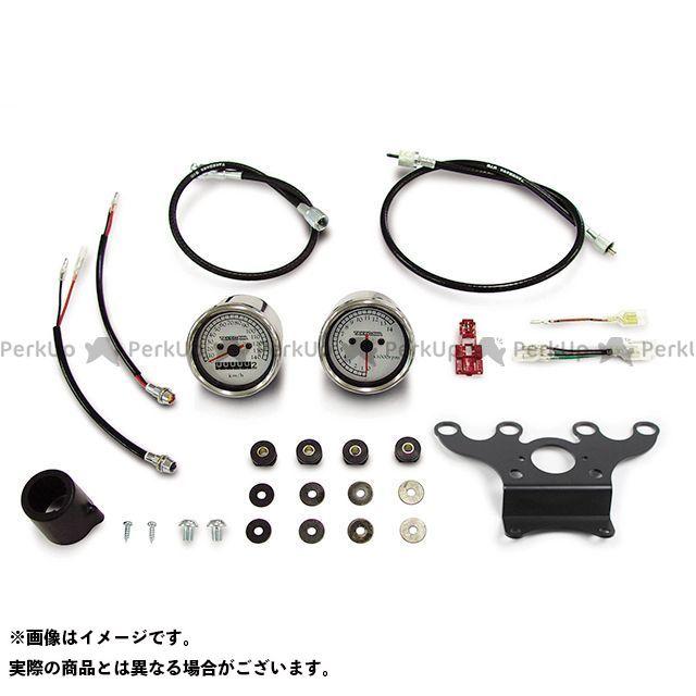 送料無料 TAKEGAWA ゴリラ モンキー スピードメーター スピードメーター&タコメーターキット(ホワイト&ブラック)