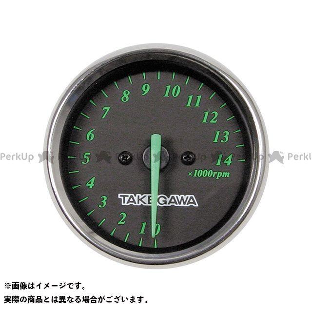 【エントリーで最大P23倍】TAKEGAWA 汎用 タコメーター タコメーター 電気式/補修部品(ブラック&グリーン) SP武川