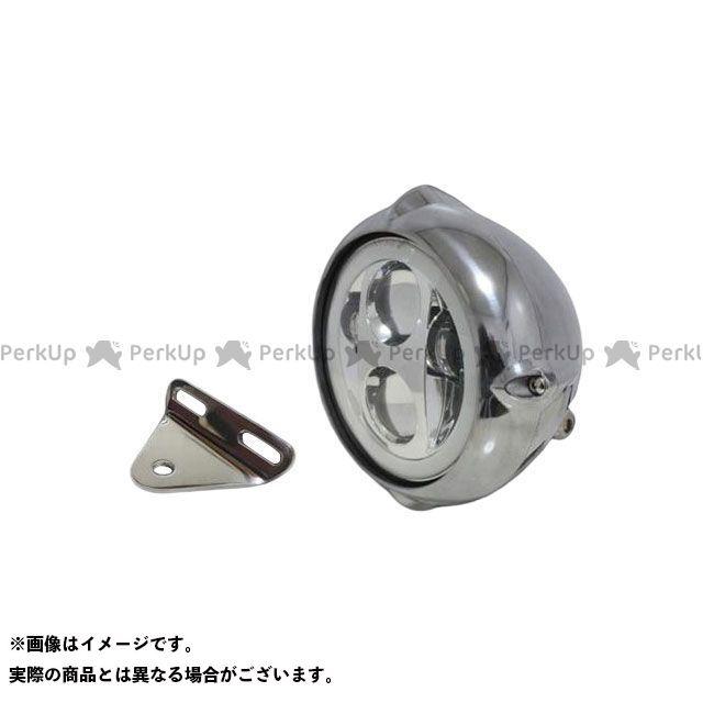 ガレージティーアンドエフ ドラッグスター1100(DS11) ヘッドライト・バルブ 5.75インチビンテージヘッドライト(ポリッシュ) プロジェクターLED仕様(リング付き)&ライトステー(タイプA) キット
