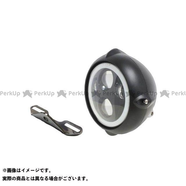 ガレージティーアンドエフ ドラッグスタークラシック1100(DSC11) ヘッドライト・バルブ 5.75インチビンテージヘッドライト(ブラック) プロジェクターLED仕様(リング付き)&ライトステー(タイプB) キット