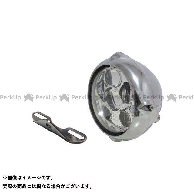 ガレージティーアンドエフ バルカン400クラシック ヘッドライト・バルブ 5.75インチビンテージヘッドライト(ポリッシュ) プロジェクターLED仕様&ライトステー(タイプB) キット