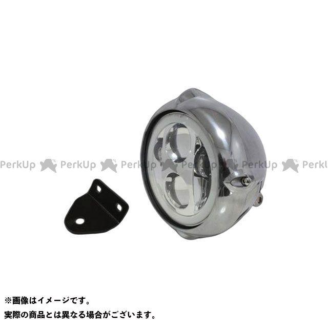 ガレージティーアンドエフ SR400 SR500 ヘッドライト・バルブ 5.75インチビンテージヘッドライト(ポリッシュ) プロジェクターLED仕様(リング付き)&ライトステー(タイプC) キット