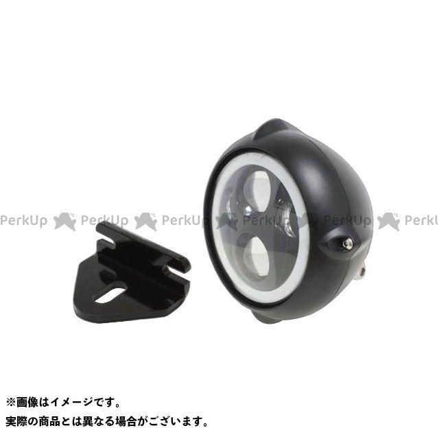 ガレージティーアンドエフ 250TR ヘッドライト・バルブ 5.75インチビンテージヘッドライト(ブラック) プロジェクターLED仕様(リング付き)&ライトステー(タイプE) キット