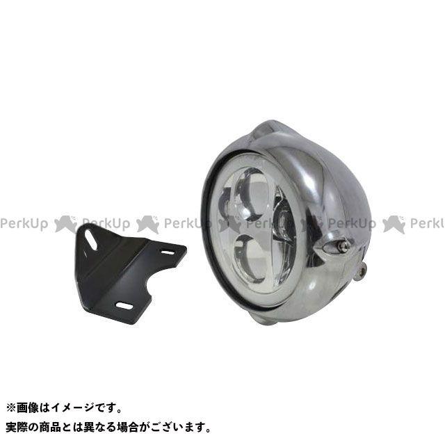 ガレージティーアンドエフ エストレヤ ヘッドライト・バルブ 5.75インチビンテージヘッドライト(ポリッシュ) プロジェクターLED仕様(リング付き)&ライトステー(タイプG) キット