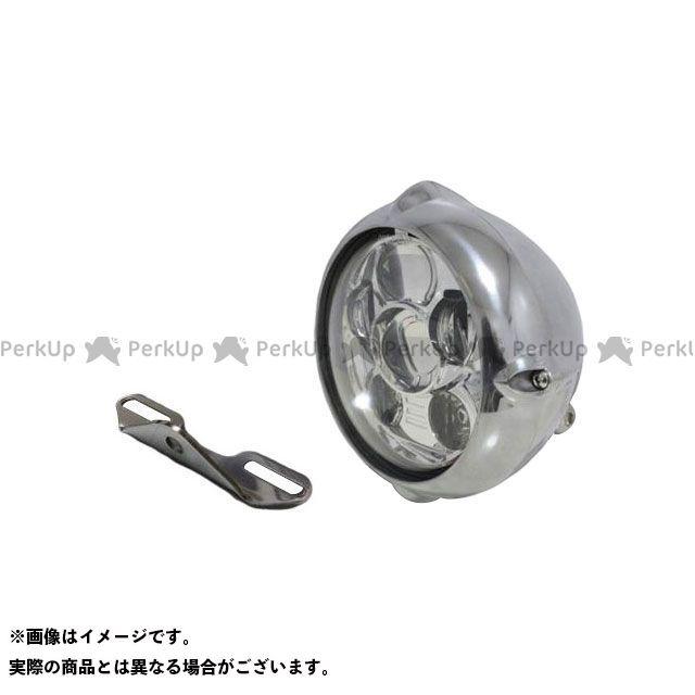 ガレージティーアンドエフ イントルーダークラシック400 ヘッドライト・バルブ 5.75インチビンテージヘッドライト(ポリッシュ) プロジェクターLED仕様&ライトステー(タイプB) キット