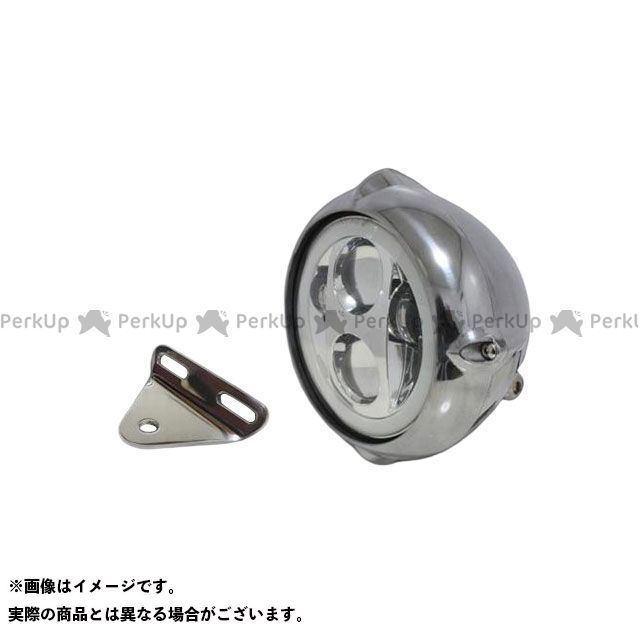 ガレージティーアンドエフ スティード400 ヘッドライト・バルブ 5.75インチビンテージヘッドライト(ポリッシュ) プロジェクターLED仕様(リング付き)&ライトステー(タイプA) キット