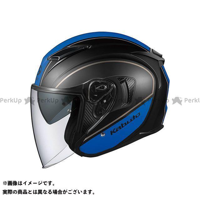 送料無料 OGK KABUTO オージーケーカブト ジェットヘルメット EXCEED DELIE(エクシード・デリエ) フラットブラック/ブルー XL