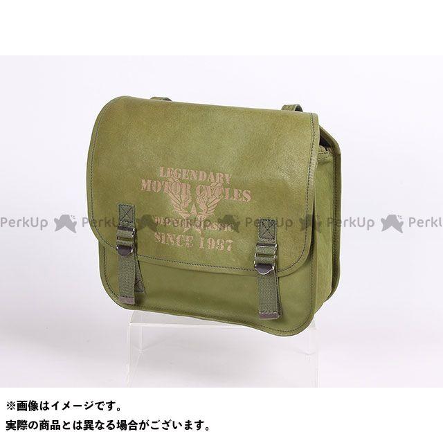 【エントリーで更にP5倍】デグナー ツーリング用バッグ SB-78 ミリタリーテイストレザーサドルバッグ(カーキ) DEGNER