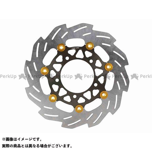 送料無料 SHIFTUP シグナスX SR ディスク 260mm ウェーブフローティングディスクローター(ゴールド/チタン)