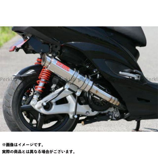 【エントリーで更にP5倍】K2-tec シグナスX マフラー本体 シグナスX Volta STD(台湾5期O2対応) 出口形状:M1タイプ ケイツーテック