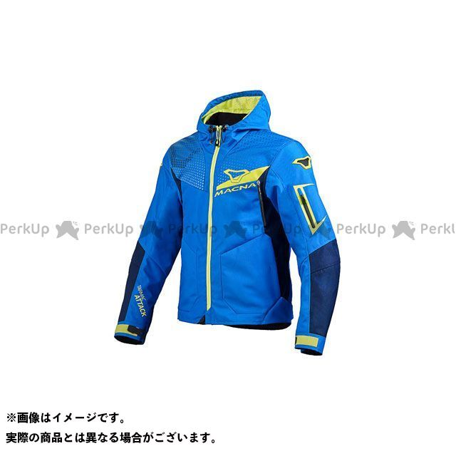 MACNA ジャケット Imbuz(インバズ) ライディングジャケット ブルー/イエロー サイズ:XL マクナ