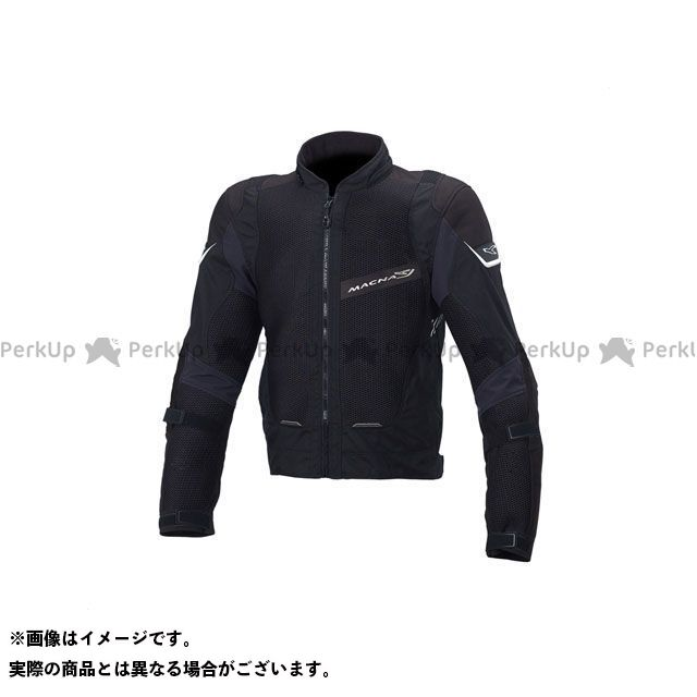 MACNA ジャケット Sunrise(サンライズ) メッシュジャケット ブラック サイズ:M マクナ