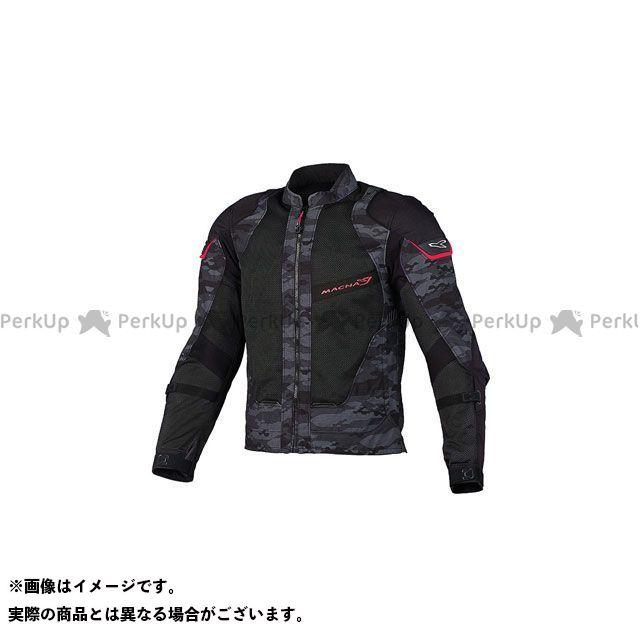 MACNA ジャケット Sunrise(サンライズ) メッシュジャケット ブラック/カモ/レッド サイズ:L マクナ
