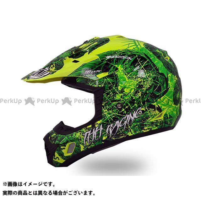 THH ティーエイチエイチ オフロードヘルメット TX-12 ディアボロ オフロードヘルメット(グリーンホワイト) XXL