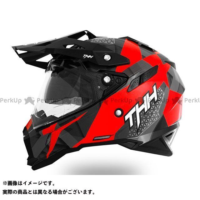 THH ティーエイチエイチ オフロードヘルメット TX-28 Wake (ウェイク) インナーサンバイザー装備 オフロードヘルメット(レッドホワイト) L