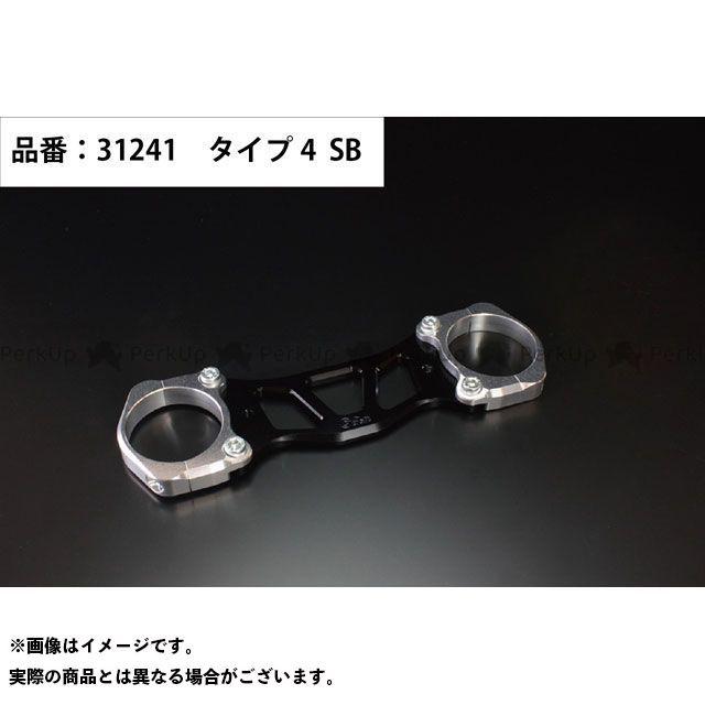 ジークラフト エイプ100 エイプ50 その他外装関連パーツ ダウンフェンダーステー タイプ4(シルバー/ブラック) Gクラフト