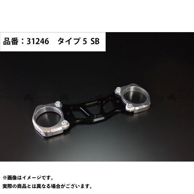 ジークラフト エイプ50 その他外装関連パーツ ダウンフェンダーステー タイプ5(シルバー/ブラック) Gクラフト