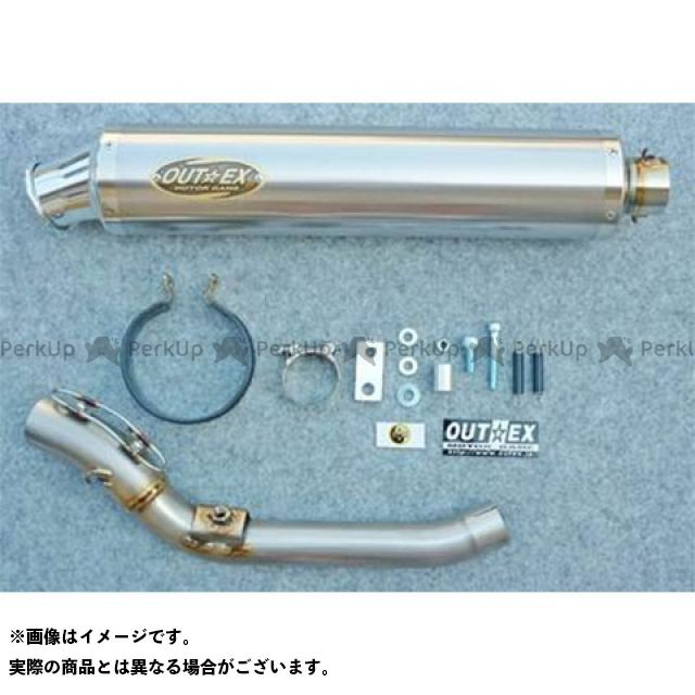 アウテックス WR250R WR250X マフラー本体 WR250R/X用 マフラー/スリップオン OUTEX.R-TT(S/O) 450mm 有