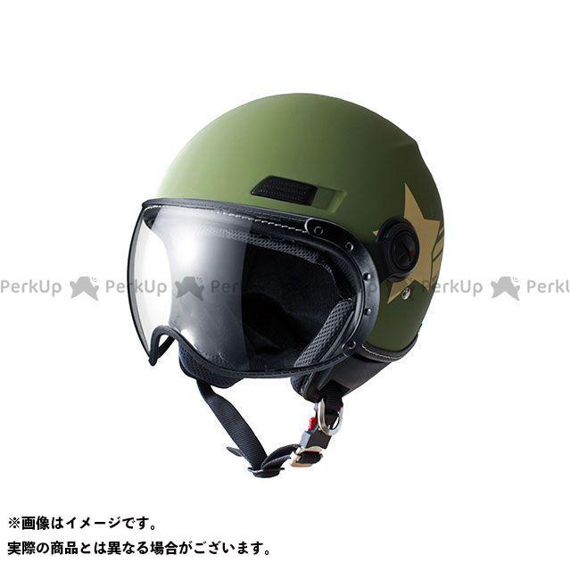 送料無料 Marushin マルシン ジェットヘルメット 【特価セール】 MS-340 ジェットヘルメット アーミースター(カーキ) M/57-58cm