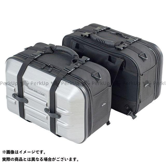 TANAX ツーリング用ボックス 【数量限定】 MOTO FIZZ ツアーシェルケース2(ヘアラインシルバー)+保護シート2枚 タナックス