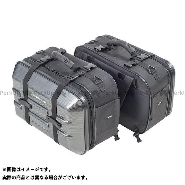 【エントリーで更にP5倍】TANAX ツーリング用ボックス 【数量限定】 MOTO FIZZ ツアーシェルケース2(カーボン柄)+保護シート2枚 タナックス